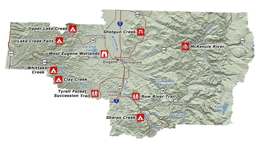 Eugene Recreation Map on