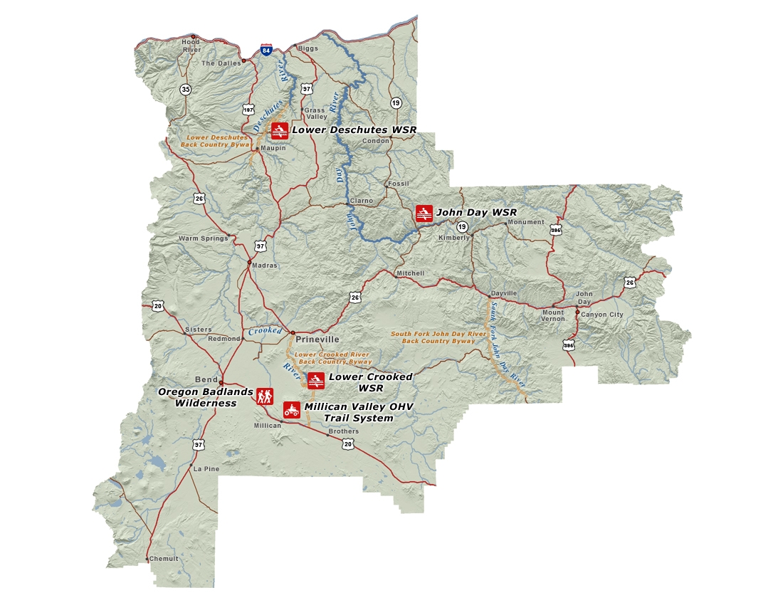 Prineville Recreation Map