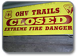 Follow closures and fire restrictions