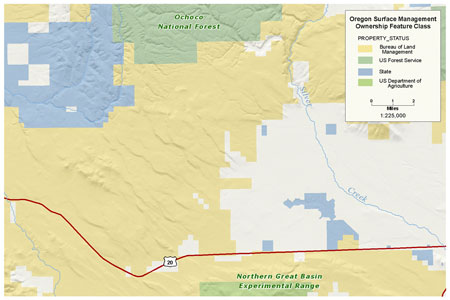 Click to view BLM OR Management Ownership Polygon map image