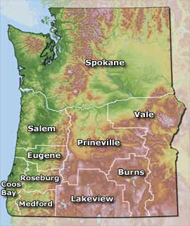 OR/WA BLM District Map