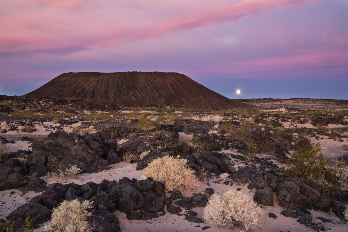 Landscape view of Amboy Crater in California. Photo by Bob Wick, BLM.
