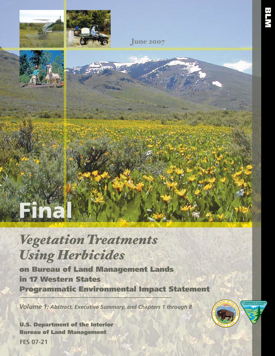 2007 vegetation PEIS cover page