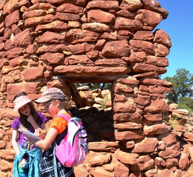 Two girls learn about Cedar Mesa in Utah. BLM photo