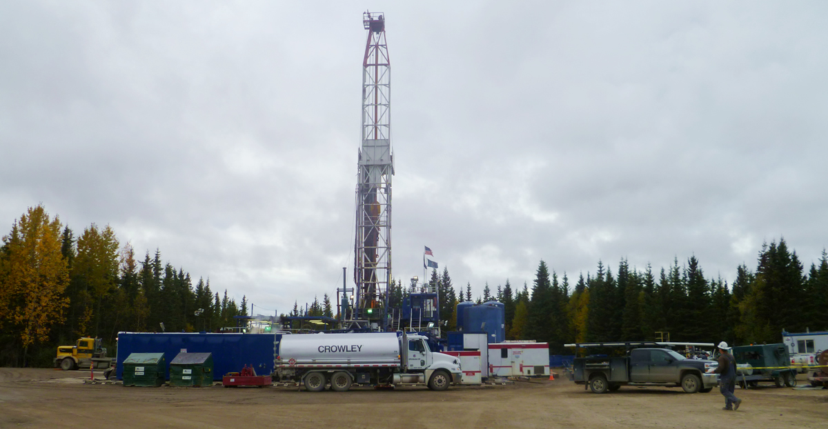 new gas well being drilled in our Swanson River Unit in the Kenai National Wildlife Refuge