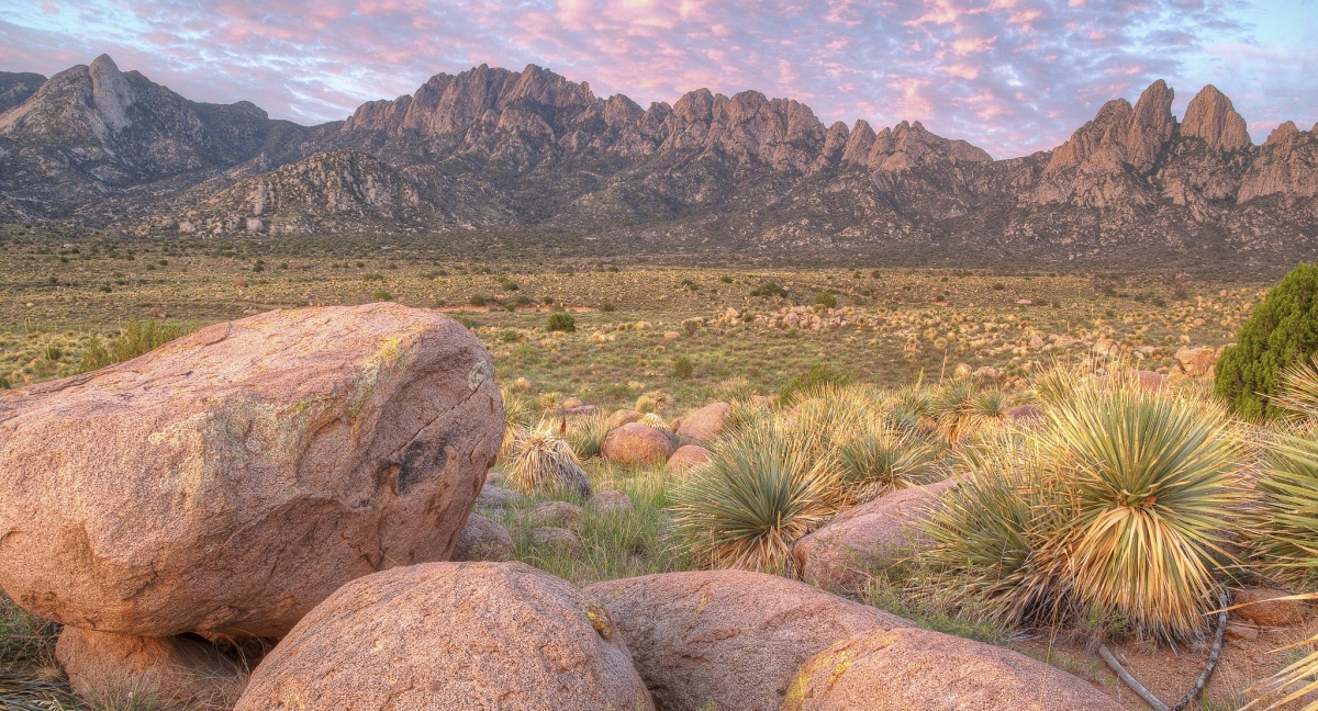 Landscape view of the Organ Mountains Desert-Peaks National Monument in New Mexico. Photo by Bob Wick, BLM.