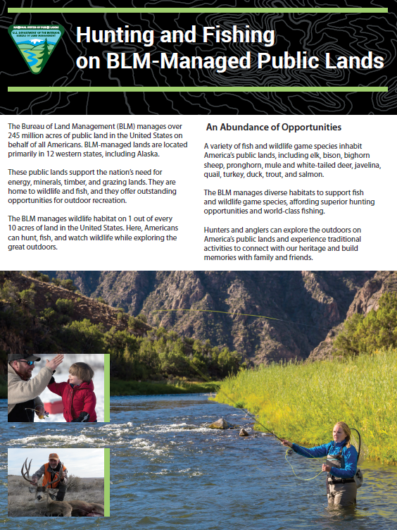 Hunting, Fishing and Recreational Shooting | Bureau of Land