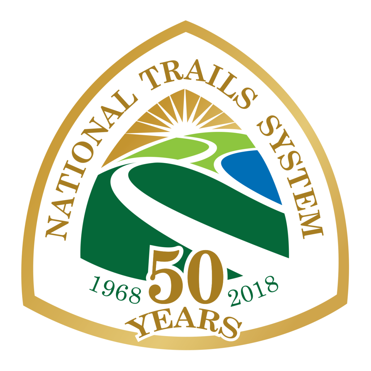 The National Trail System 50th Anniversary Logo