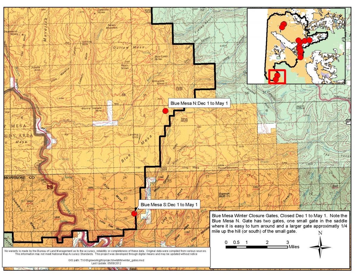 Blue Mesa Closure Map