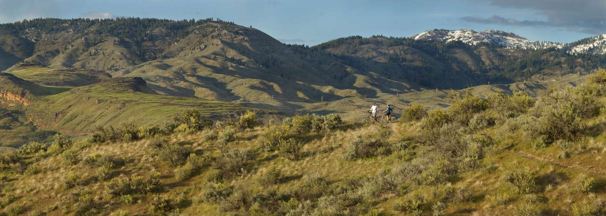 An interagency Partnership Manages Popular Boise Foothills Trail System. Photo by Aaron Beck.