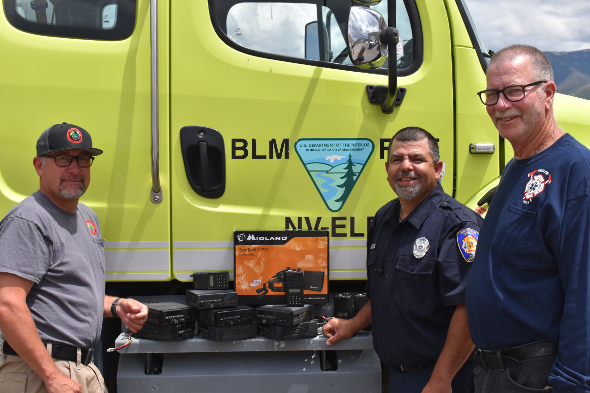Blm Ely District Transfers Firefighting Equipment To White Pine County Bureau Of Land Management