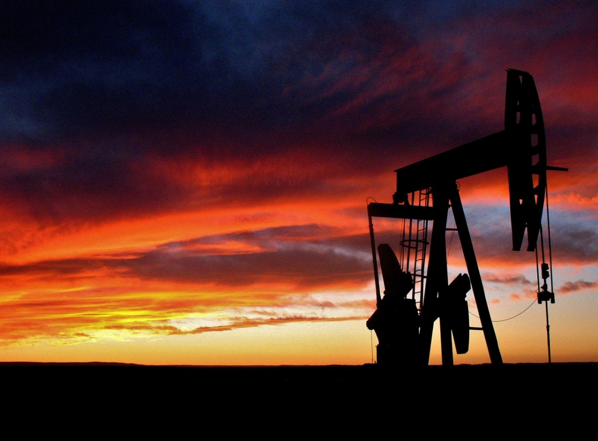 Oil production at sunset in New Mexico. BLM photo