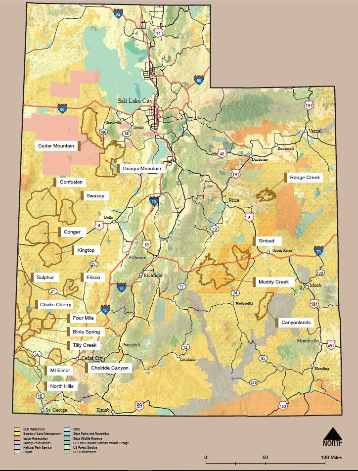 Utah Herd Management Areas Bureau Of Land Management