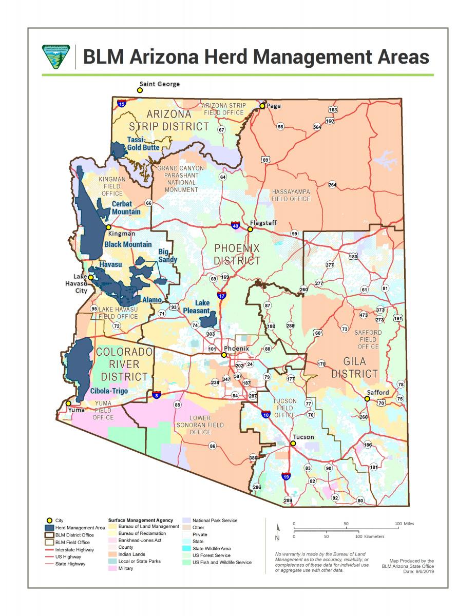 Arizona - Herd Management Areas | Bureau of Land Management