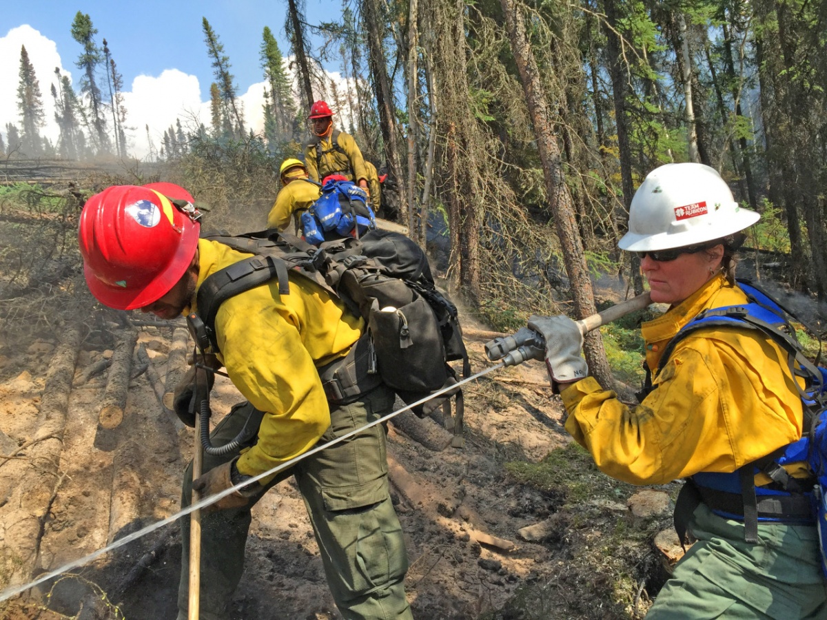 the BLM mobilized Team Rubicon members to fight wildfires in Alaska, during one of the worst fire seasons in the state's history.