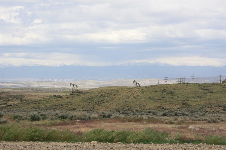 Drilling on BLM-managed public lands.