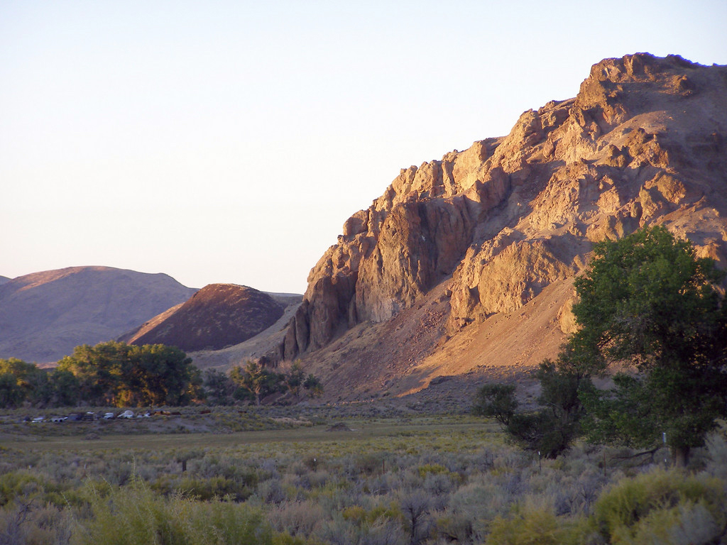 Sunset near Chruchhill Narrows, Nevada. BLM photo.