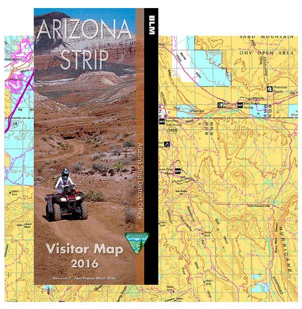 Map Of Arizona Strip.Arizona Strip Visitor Map West Bureau Of Land Management