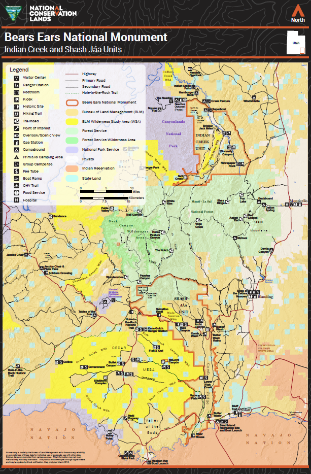Bears Ears Utah Map Utah : Bears Ears National Monument Map | BUREAU OF LAND MANAGEMENT