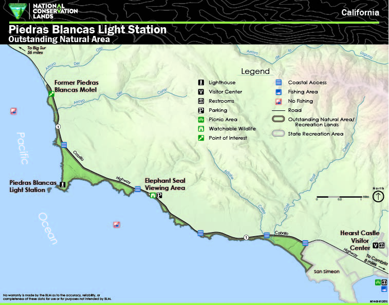 Hearst Castle California Map.Directions Piedras Blancas Light Station Bureau Of Land Management