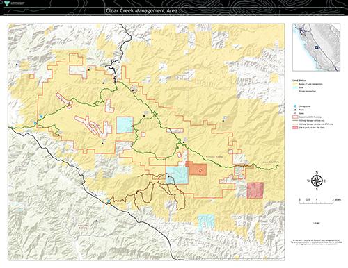 Clear Creek Management Area Bureau Of Land Management - Clear-us-map