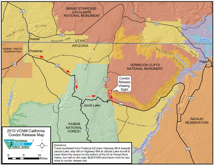 Condor Release Area Map - Vermilion Cliffs National Monument ...