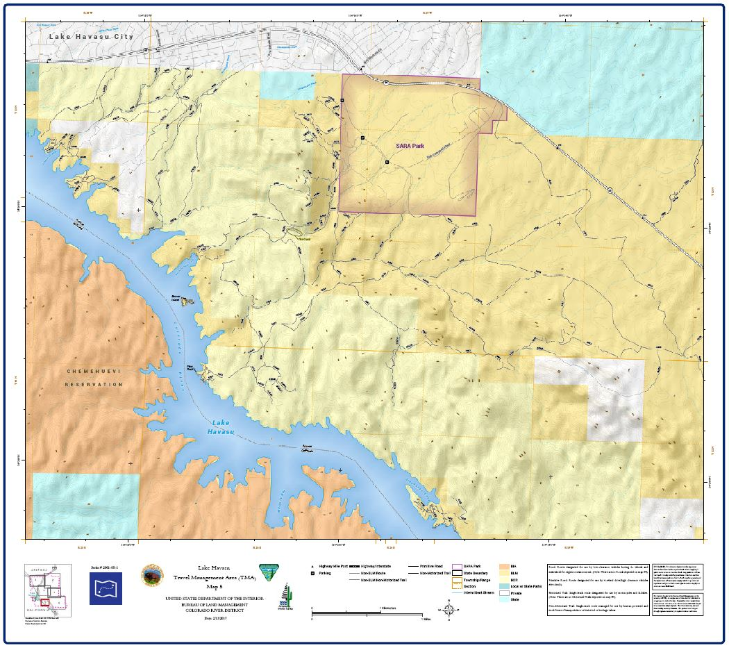 Havasu Access Guide Map 5 of 7 BUREAU OF LAND MANAGEMENT