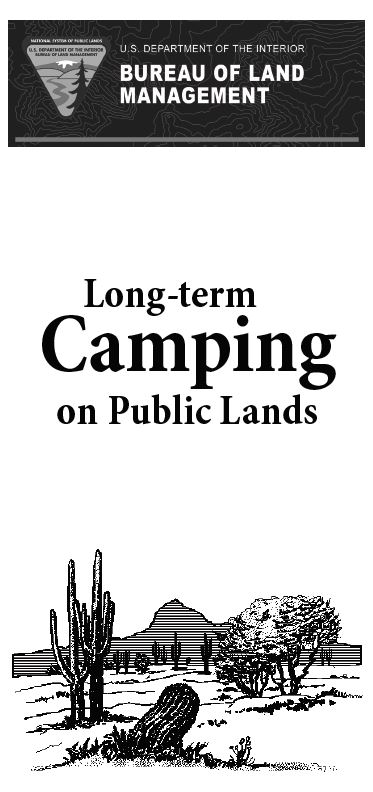 Long-Term Visitor Area (LTVA) - Long-Term Camping on Public
