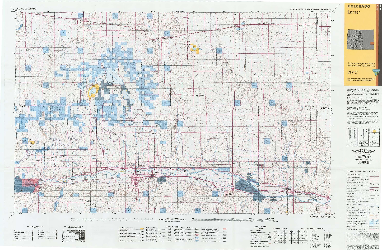 Co Surface Management Status Lamar Map Bureau Of Land Management