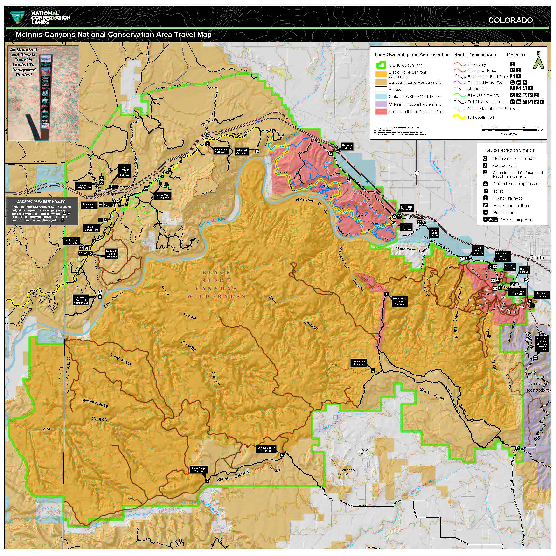 Mcinnis canyons national conservation area mcnca travel map mcinnis canyons national conservation area mcnca travel map gumiabroncs Choice Image