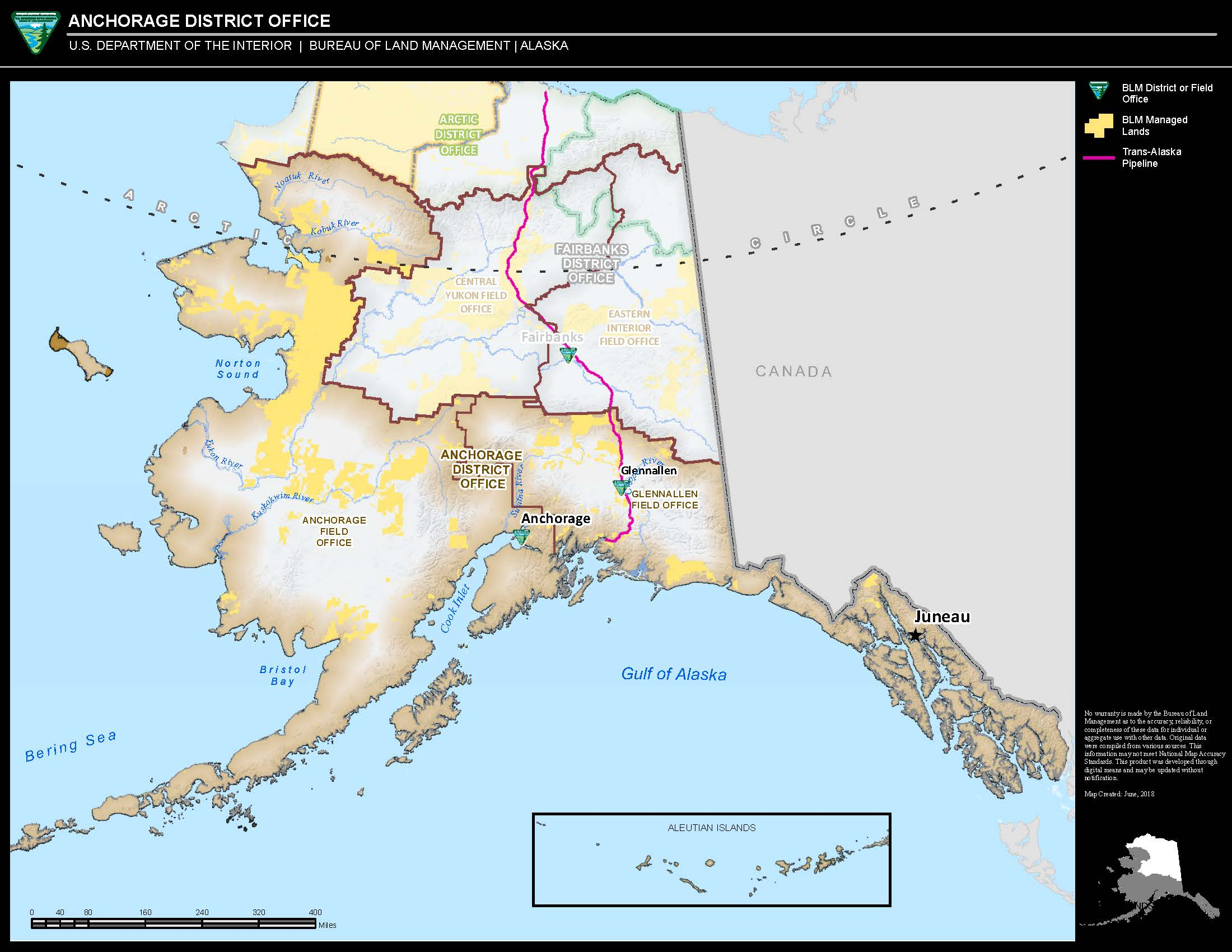 Maps: Alaska: Anchorage District Office Boundary Map | Bureau of ...