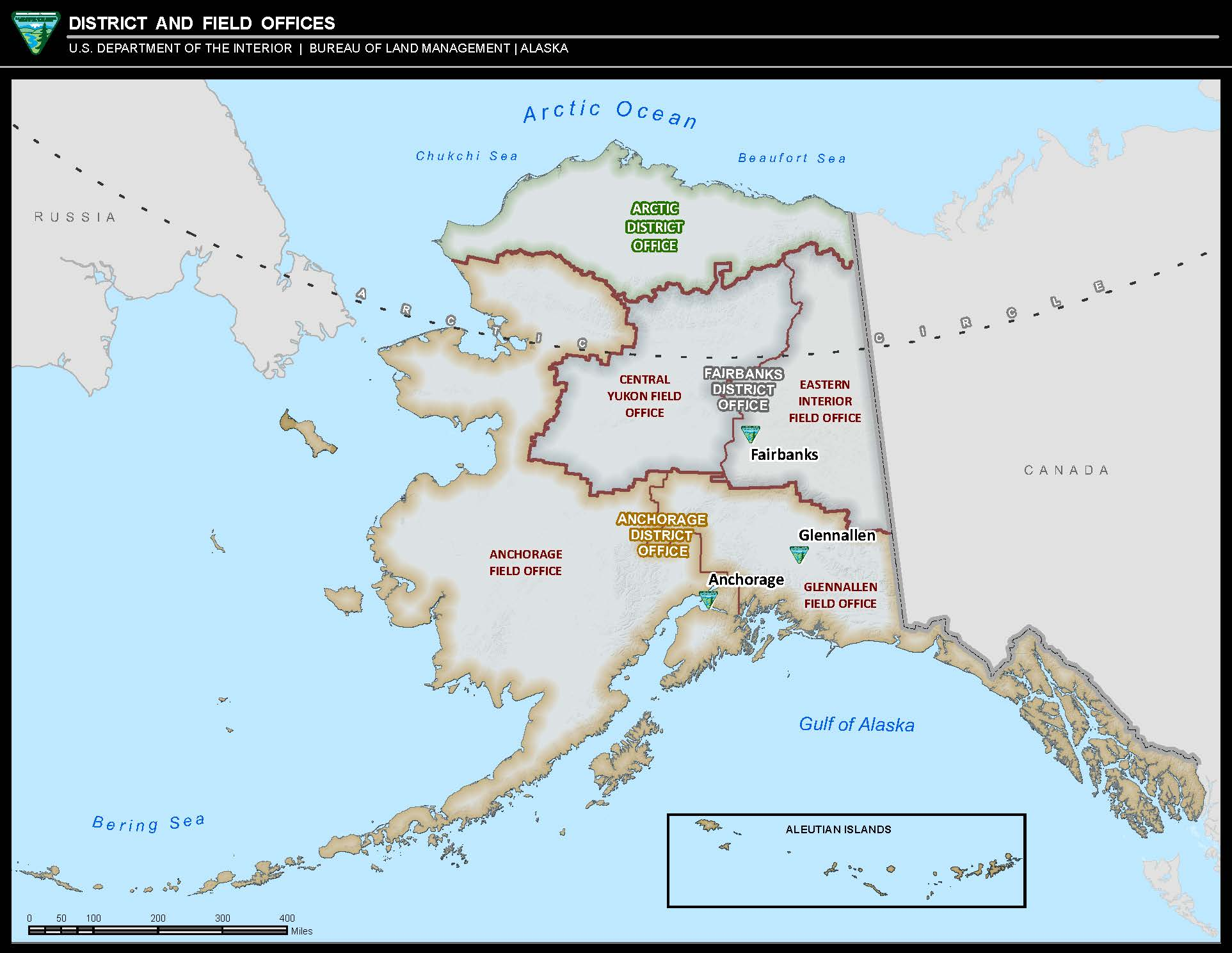 Maps: Alaska: State-wide Office Boundary Map | BUREAU OF LAND MANAGEMENT