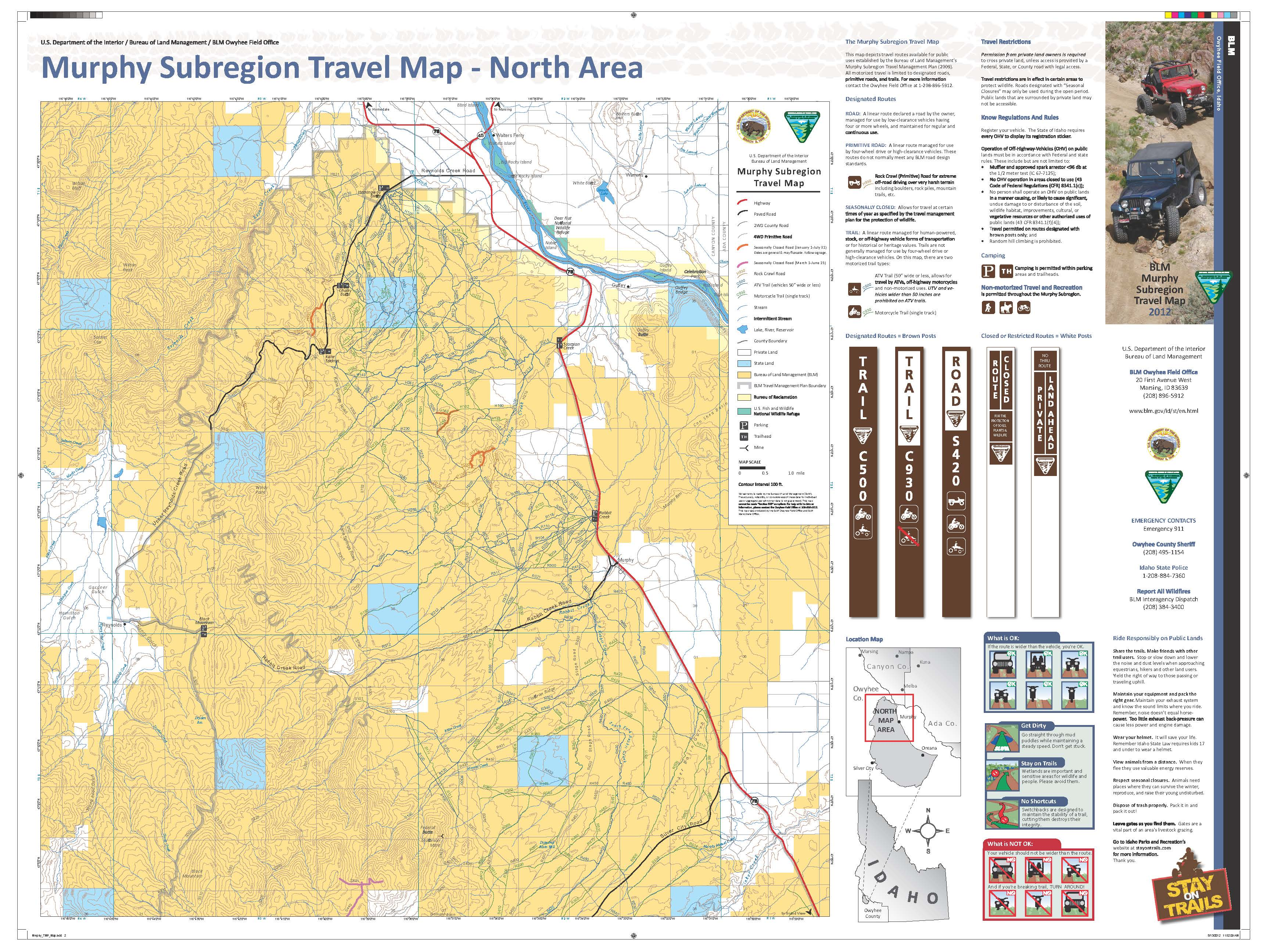 Media Center Public Room Idaho Murphy Subregion Georeferenced - Idaho public lands map
