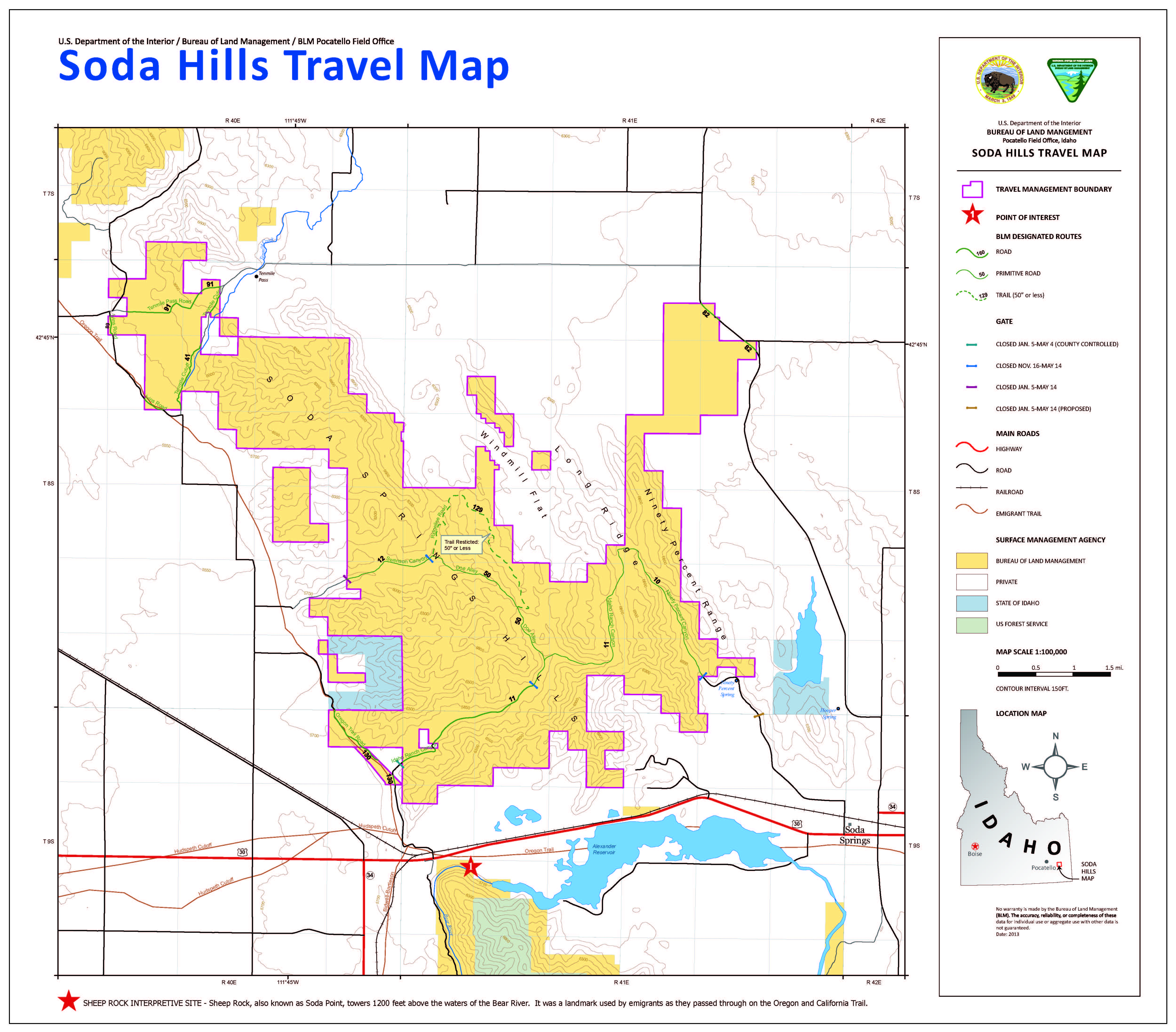 Media Center Public Room Idaho Soda Hills Georeferenced Travel - Soda-map-of-the-us