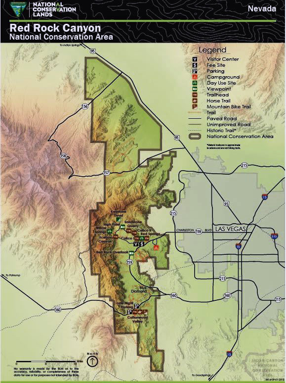 Red Rock Canyon NCA map