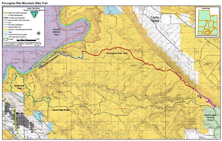 Media: Public Room: Utah: Porcupine Rim Mountain Bike Trails Map ...