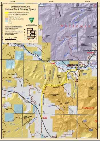 Media: Public Room: Utah: Smithsonian Butte Backcountry Byway Map ...