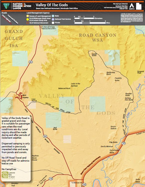 Media: Public Room: Utah: Valley of the Gods Georeferenced Map