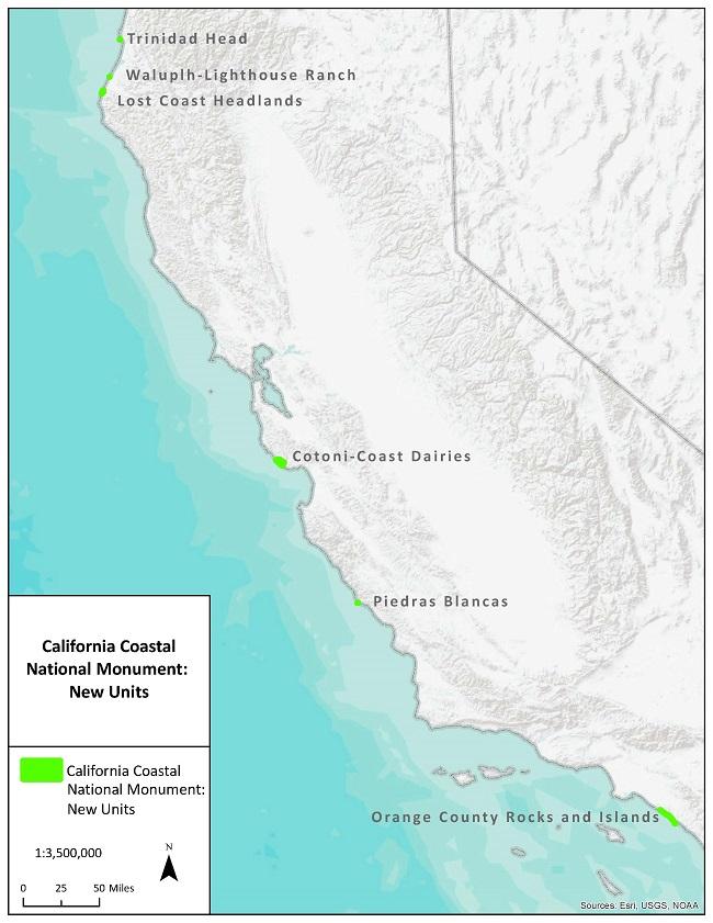California Coastal National Monument Map | Bureau of Land Management