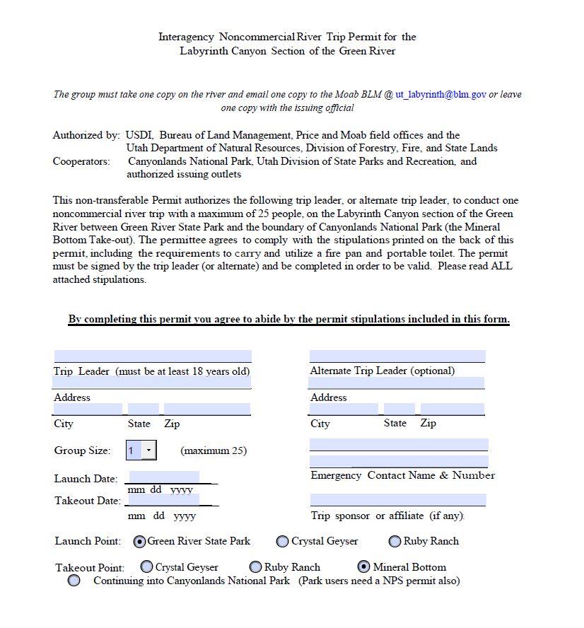 Nevada Law Library >> Media: Public Room: Utah: Labyrinth Canyon Trip Permit | Bureau of Land Management