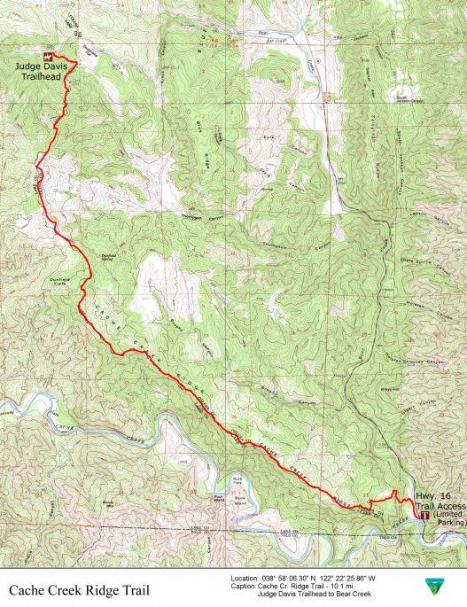 Media Center: Public Room: California: Cache Creek Ridge Trail Map
