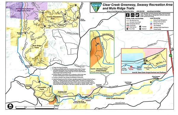 Clear Creek Greenway Map Bureau Of Land Management - Clear-us-map