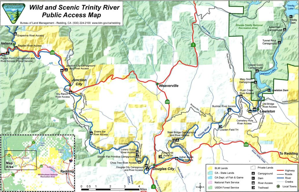 Map Of California Blm Land.Media Center Public Room California Wild And Scenic Trinity River