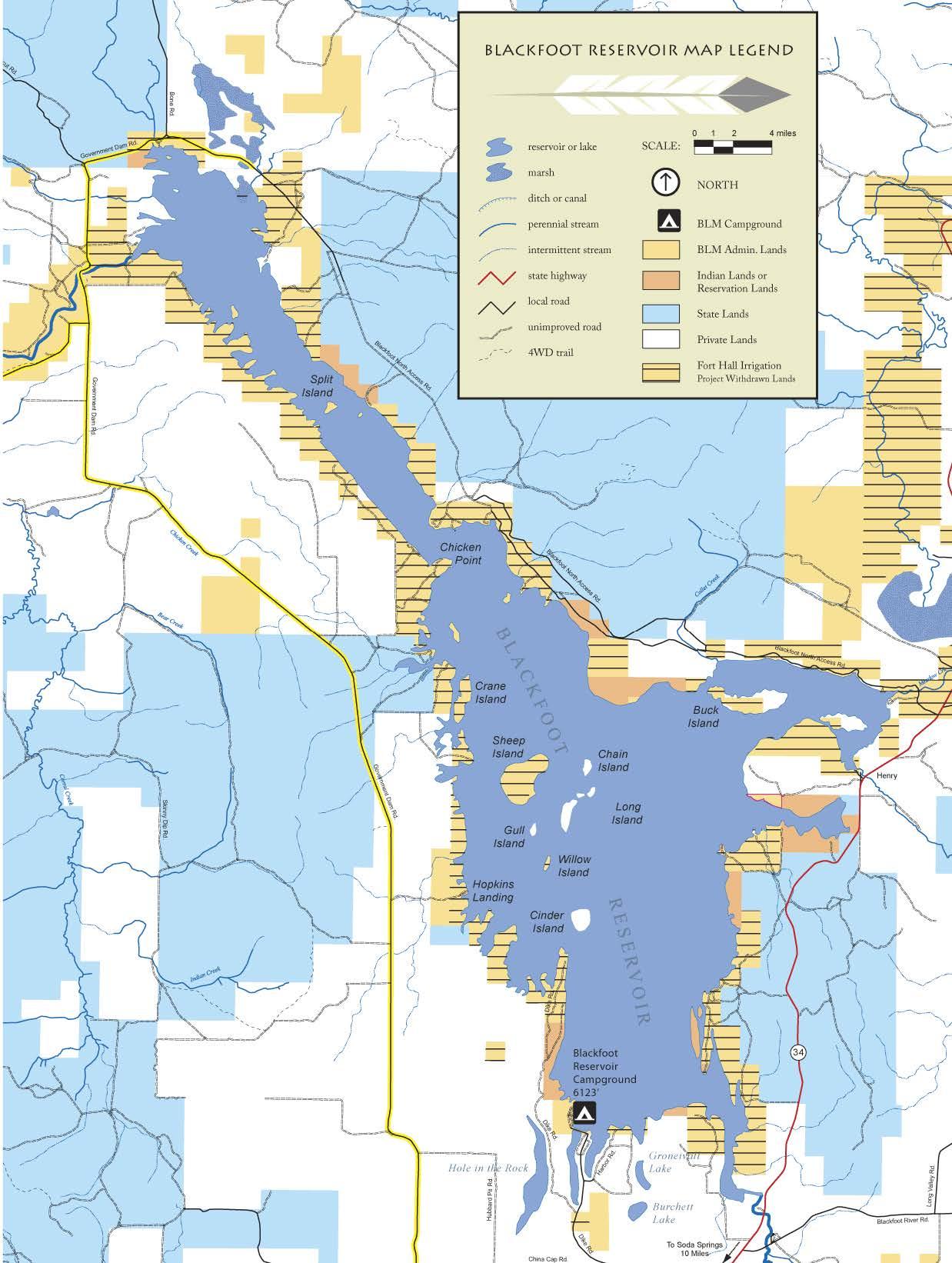 Public Room Media Center Idaho Blackfoot River Recreation Map