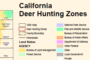 Deer Hunting Maps Public Room: California: California Deer Hunting Zones Map