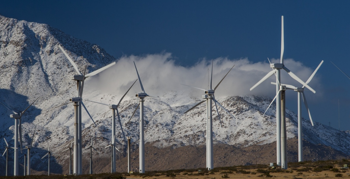 Wind energy in the California desert. Photo by Tom Brewster Photography