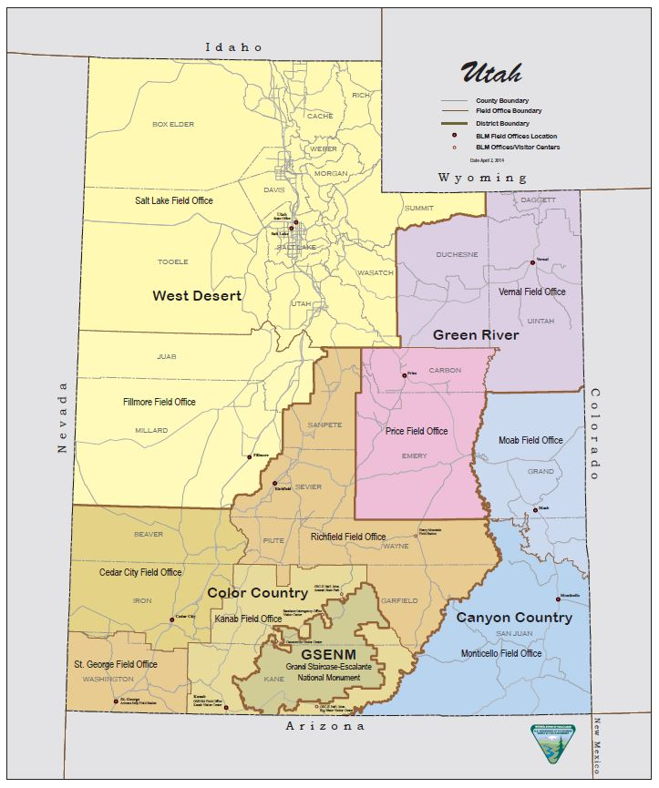 Maps Frequently Requested Utah BUREAU OF LAND MANAGEMENT - Utah maps