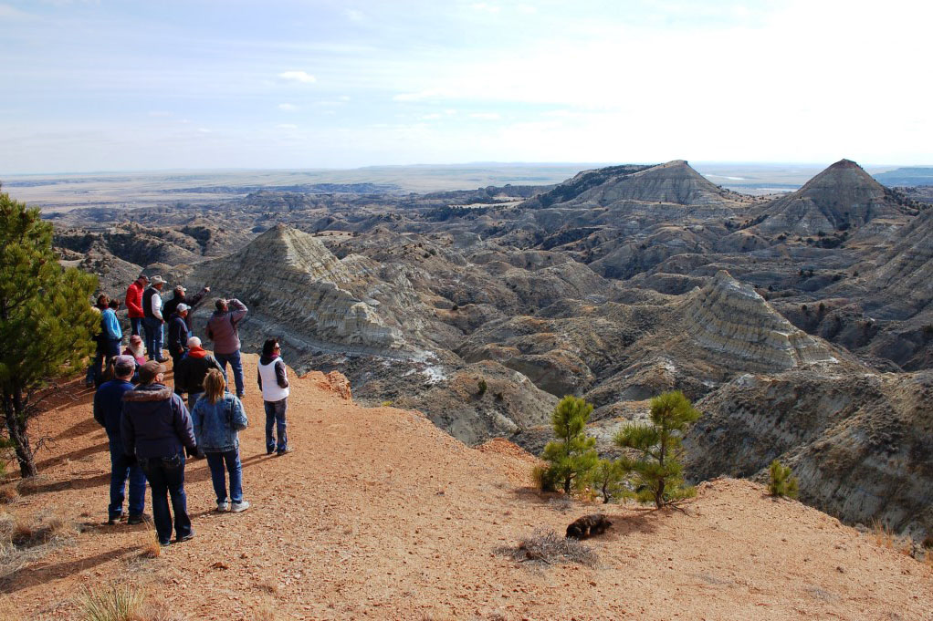 Eastern Montana RAC members view the landscape on a field trip to Terry Badlands, Montana, BLM photo