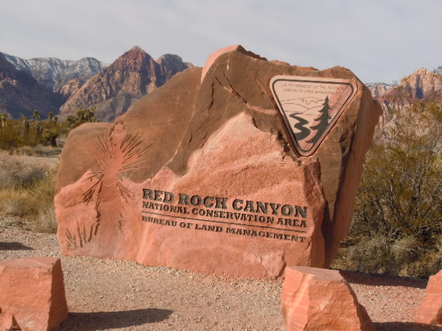 Red Rock Canyon Entrance Sign