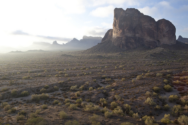 The 97,880-acre Eagletail Mountains Wilderness is about 65 miles west of Phoenix, Arizona, in Maricopa, Yuma, and LaPaz counties.